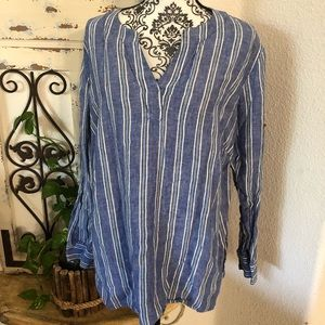 Ralph Lauren blue and white striped tunic